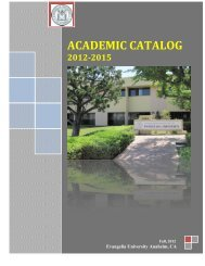 Academic Catalog Revised 2012-2015 - Evangelia University