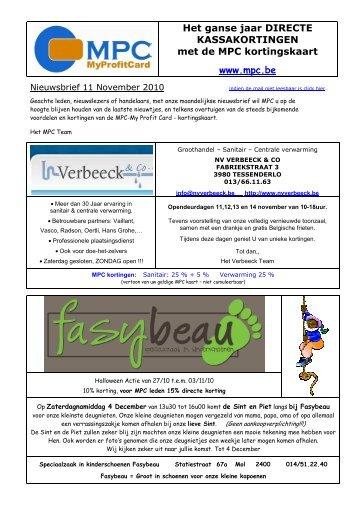 nieuwsbrief 11-10 - MyProfitCard