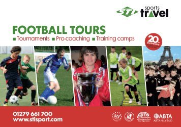 Download our Football Tours and Tournaments brochure