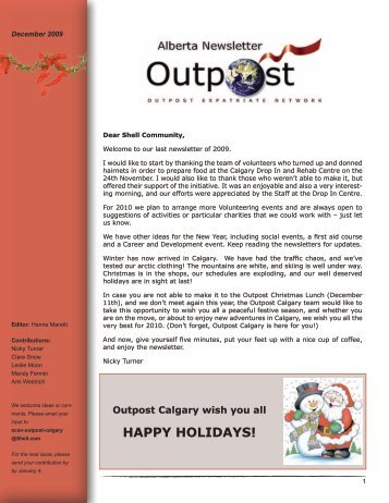 HAPPY HOLIDAYS! - Outpost Calgary