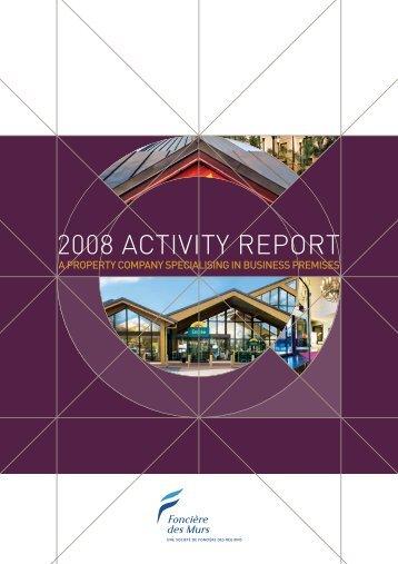 2008 ACTIVITY REPORT - Foncière Des Murs