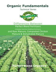 Organic Fundamentals - Perfect Blend, LLC