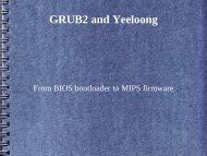 GRUB as bootloader on Yeeloong - RMLL 2010