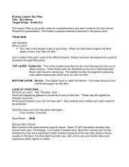 Primary Lesson Sun Plan Title: Sun Sense Target Group: Grade K-2 ...