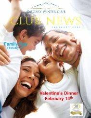 Valentine's Dinner February 14th Family Day - Calgary Winter Club