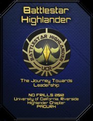 Battlestar Highlander - pacurh - National Association of College and ...