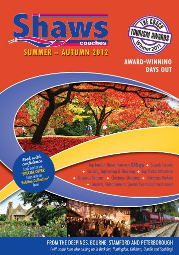 SUMMER – AUTUMN 2012 - Shaws Coaches