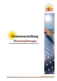 Referenzanlage - S&W Regenerative ENERGIEN GmbH