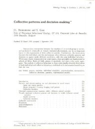 Collective patterns and decision-making *