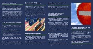 Datenschutz & Datensicherheit - Sunny Privacy Management