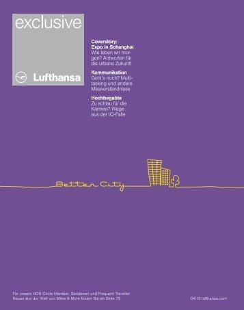 Lufthansa Exclusive - Lufthansa Media Lounge: Home