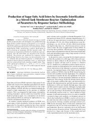 Production of Sugar Fatty Acid Esters by Enzymatic