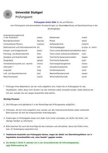 Fachschaft Elektrotechnik und Informationstechnik - Universität ...
