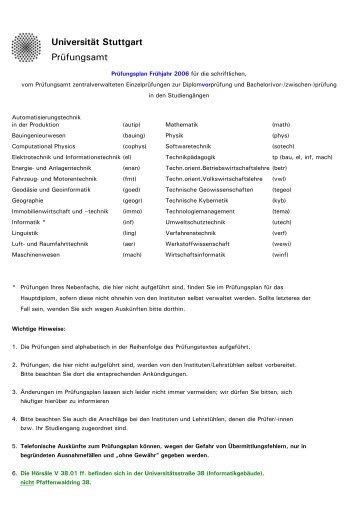Plan Vordiplom - Fachschaft Elektrotechnik und Informationstechnik ...