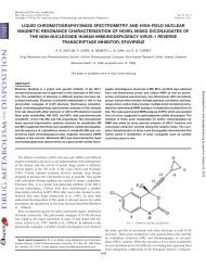 liquid chromatography/mass spectrometry and high-field nuclear ...