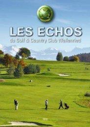 palmares saison 2010 - Golf und Country Club Wallenried