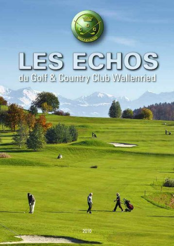 palmares saison 2010 - Golf und Country Club Wallenried
