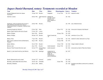 Testaments recorded at Moudon - RootsWeb