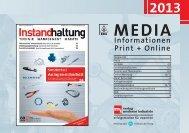 2013 MEDIA Informationen Print + Online - verlag moderne industrie