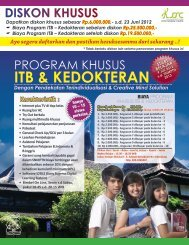 Brosur Program 3 SMA 2012/2013 - Sony Sugema College