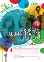 Brosur Program Alumni 2012/2013 - Sony Sugema College