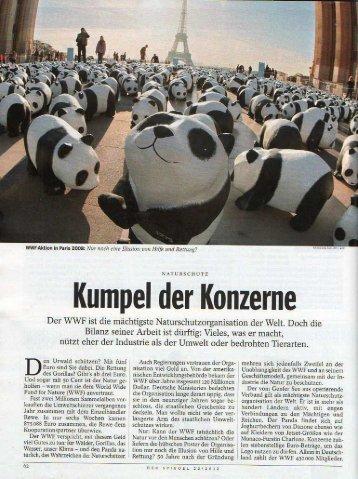 Kumpel der Konzerne - Tierschutznews