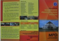 S2 Manajer Profesional pembangunan Daerah (MPD) - FEM - IPB