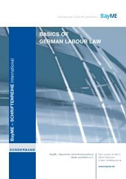 BASICS OF GERMAN LABOUR LAW