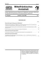 Amtsblatt - Regierung von Mittelfranken - Bayern