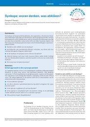 Synkope: woran denken, was abklären? - Swiss Medical Forum