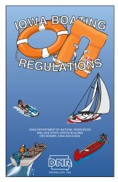 A Synopsis Of Iowa Boating - Iowa Publications Online - State of Iowa
