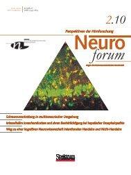 Neuroforum 2/10 - Neurowissenschaftliche Gesellschaft eV - MDC