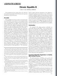 Chronic hepatitis B - AASLD