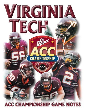 2005 Inaugural Dr Pepper ACC Football ... - HokieSports