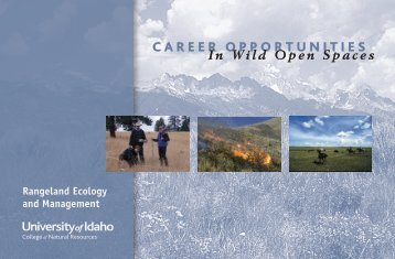 CAREER OPPORTUNITIES - College of Natural Resources ...