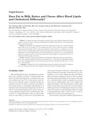 Does Fat in Milk, Butter and Cheese Affect - Journal of the American ...