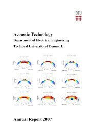 Acoustic Technology Annual Report 2007