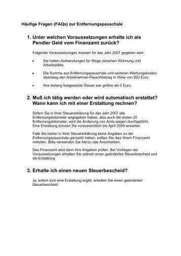 fragen und antworten als pdf datei - Anschreiben Steuererklarung