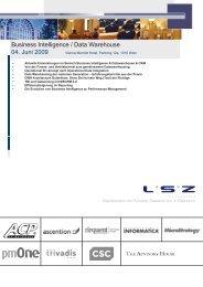 Business Intelligence / Data Warehouse 04. Juni 2009
