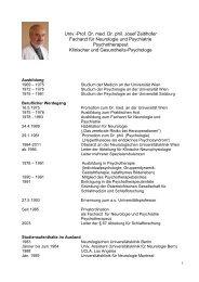 Prof. Dr. Med. Dr. Phil. Josef Zeitlhofer