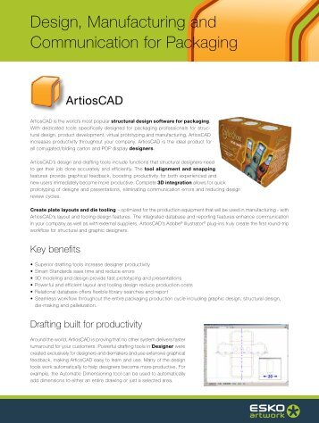 Design, Manufacturing and Communication for Packaging - Esko