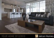 Your Home Brochure - Jalcon Homes