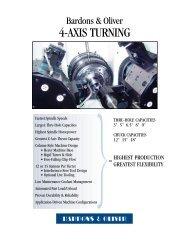 4-Axis Turning Machine - Bardons & Oliver, Inc.