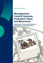 Management Control Systems, Evaluative Style, and Behaviour