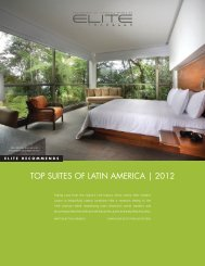 TOP SUITES OF LATIN AMERICA | 2012 - Elite Traveler
