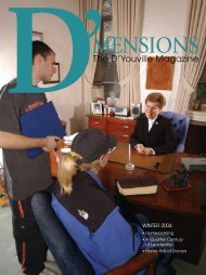 D'mensions Fall 2004.indd - D'Youville College