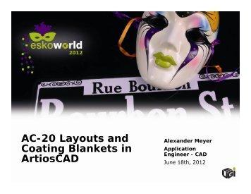 AC-20 Layouts and Coating Blankets in ArtiosCAD - Esko