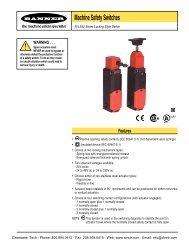 Banner SI-LS42 Series Locking Style Machine Safety Switches