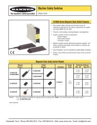 Banner SI-MAG Series Magnet Style Machine Safety Switches