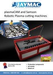 plasmaCAM and Samson Robotic Plasma cutting machines - Jaymac